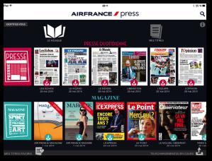 Une cinquantaine de titres numériques est proposée aux clients d'Air France