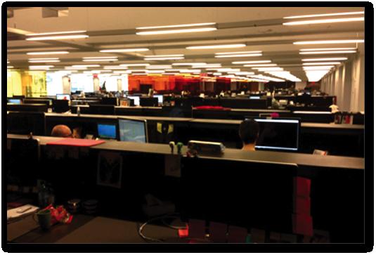 Le plateau des développeurs de La Presse+, en décembre 2013.