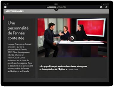 L'utilisation du studio de La Presse +