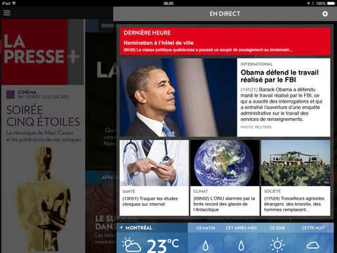 La Presse + a lancé en mars 2014 le premier quotidien 100% adapté à tablette.