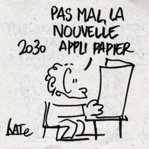 Un dessin réalisé par la dessinatrice Kat dans le cadre des Assises du journalisme 2014 (http://undessinparjour.wordpress.com/)