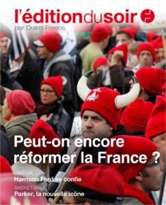 La une du 1er numéro de L'Edition du Soir, le 5 novembre 2013