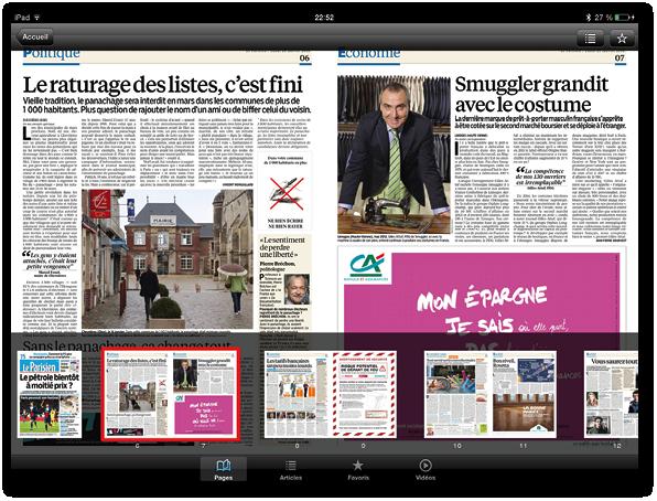 Exemples de PDF avec reflow : Le Parisien